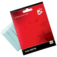 5 Star Multipurpose Sticky Tack, Blue, 70g, Pack of 12