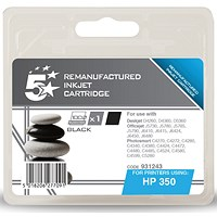 5 Star Compatible - Alternative to HP 350 Black Ink Cartridge