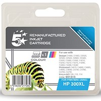 5 Star Compatible - Alternative to HP 300XL Colour Ink Cartridge