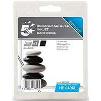 5 Star Compatible - Alternative to HP 940XL Black Ink Cartridge