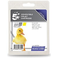 5 Star Compatible - Alternative to Brother LC985Y Yellow Inkjet Cartridge
