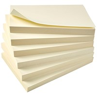 5 Star Eco Recycled Sticky Notes, 76x127mm, Yellow, Pack of 12 x 100 Notes