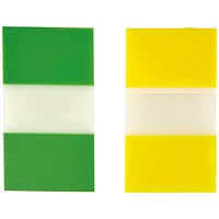 5 Star Index Flags, Yellow & Green, Pack of 2 x 50