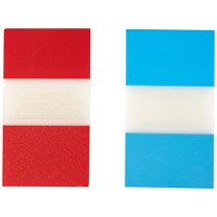 5 Star Index Flags, Red & Blue, Pack of 2 x 50