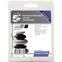 5 Star Compatible - Alternative to Brother LC1240BK Black Inkjet Cartridge