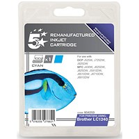 5 Star Compatible - Alternative to Brother LC1240C Cyan Inkjet Cartridge