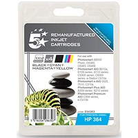 5 Star Compatible - Alternative to HP 364 Black & Colour Ink Cartridge Pack