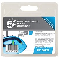 5 Star Compatible - Alternative to HP 364XL Cyan Ink Cartridge