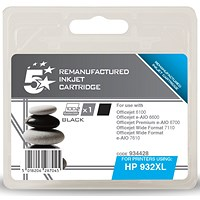 5 Star Compatible - Alternative to HP 932XL Black Ink Cartridge