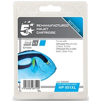5 Star Compatible - Alternative to HP 951XL Cyan Ink Cartridge