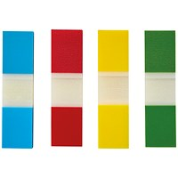 5 Star Index Flags, 4 Bright Colours, Pack of 5 x 35