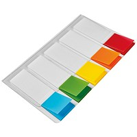 5 Star Index Flags, 5 Bright Colours, Pack of 5 x 20