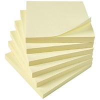 5 Star Extra Sticky Notes, 76x76mm, Yellow, Pack of 12 x 90 Notes