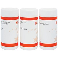 5 Star Cleaning Wipes - Pack of 3