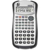 5 Star Scientific Calculator, 2 Line, 279 Functions, Silver/Black