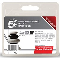 5 Star Compatible - Alternative to Canon PG-540XL Black Inkjet Cartridge