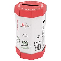 5 Star Remarkable Loop Paper Recycling Waste Bin, 60 Litres, Pack of 5