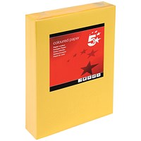 5 Star A4 Multifunctional Coloured Paper, Medium Gold, 80gsm, Ream (500 Sheets)