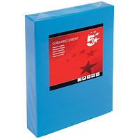 5 Star A4 Multifunctional Coloured Paper, Deep Blue, 80gsm, Ream (500 Sheets)