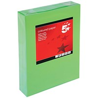 5 Star A4 Multifunctional Coloured Paper, Deep Green, 80gsm, Ream (500 Sheets)