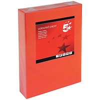 5 Star A4 Multifunctional Coloured Paper, Deep Red, 80gsm, Ream (500 Sheets)