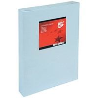 5 Star A3 Multifunctional Coloured Paper, Light Blue, 80gsm, Ream (500 Sheets)