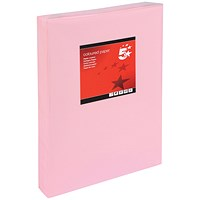 5 Star A3 Multifunctional Coloured Paper / Light Pink / 80gsm / Ream (500 Sheets)