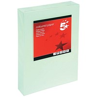 5 Star A4 Multifunctional Coloured Card, Light Green, 160gsm, 250 Sheets