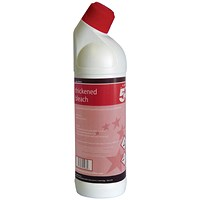 5 Star Thickened Bleach - 1 Litre