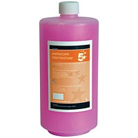 5 Star Luxury Pink Hand Soap - 1 Litre