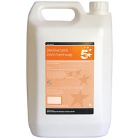 5 Star Pink Lotion Hand Soap - 5 Litres