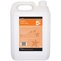 5 Star Anti-Bacterial Lotion Hand Soap - 5 Litres