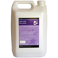 5 Star High Solids Floor Polish - 5 Litres