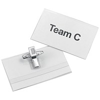 5 Star Name Badges with Combi-Clip, 75x45mm, Pack of 50