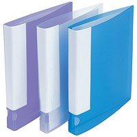 5 Star Ring Binder, A4, 2 O-Ring, Translucent, 25mm Capacity, Assorted, Pack of 10