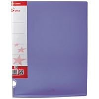 5 Star Ring Binder, A4, 2 O-Ring, Translucent, 25mm Capacity, Purple, Pack of 10