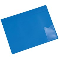 5 Star A4 Executive Flat File, Blue, Pack of 5