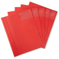 5 Star A4 Executive Flat File, Red, Pack of 5
