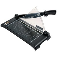 5 Star Paper Guillotine Cutter, 10 Sheet Capacity, A4, Table Size: 245x335x10mm, Silver & Black