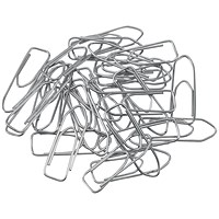 5 Star Large Office Paperclips, Polished Steel, Non-tear, Clip Length: 33mm, Pack of 1000