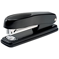 5 Star Half Strip Stapler, 20 Sheet Capacity, Takes 26/6 Staples, Black