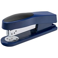 5 Star Half Strip Stapler, Top Loading, 25 Sheet Capacity, 26/6 Staples, Blue