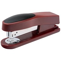 5 Star Half Strip Stapler, Top Loading, 25 Sheet Capacity, 26/6 Staples, Red