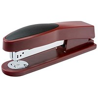 5 Star Full Strip Stapler, Rubber Body, 25 Sheet Capacity, Red