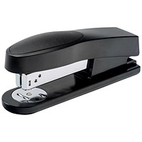 5 Star Half Strip Stapler, Top Loading, 25 Sheet Capacity, 26/6 Staples, Black