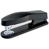 5 Star Full Strip Stapler, Rubber Body, 25 Sheet Capacity, Black