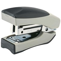 5 Star Mini Stand-up Stapler, 20 Sheet Capacity, 50 Staples, Silver & Black
