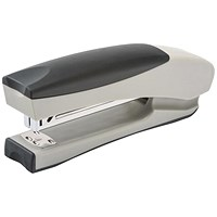 5 Star Full Strip Stand Up Stapler, Soft Grip, 20 Sheet Capacity, Silver & Black