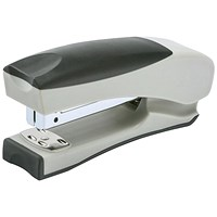 5 Star Half Strip Stand Up Stapler, 20 Sheet Capacity, Takes 26/6 Staples, Silver & Black