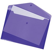 5 Star A4 Envelope Wallets, Purple, Pack of 5